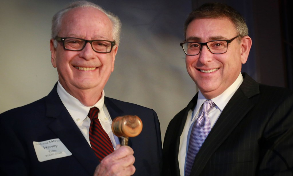 Harvey Kotler (Board Chair) and Phil Cohen (Outgoing Board Chair)